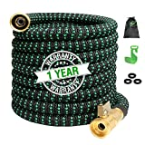 100ft Expandable Garden Hose Expanding Water Hose with 100% Solid Brass Valve 9