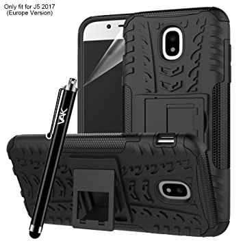 online store aab37 a7e16 Samsung Galaxy J5 2017 Case, Heavy Duty Armour Tough ShockProof Builder  Hard Back Case Cover With Stand For Samsung Galaxy J5 2017 + Screen  Protector ...