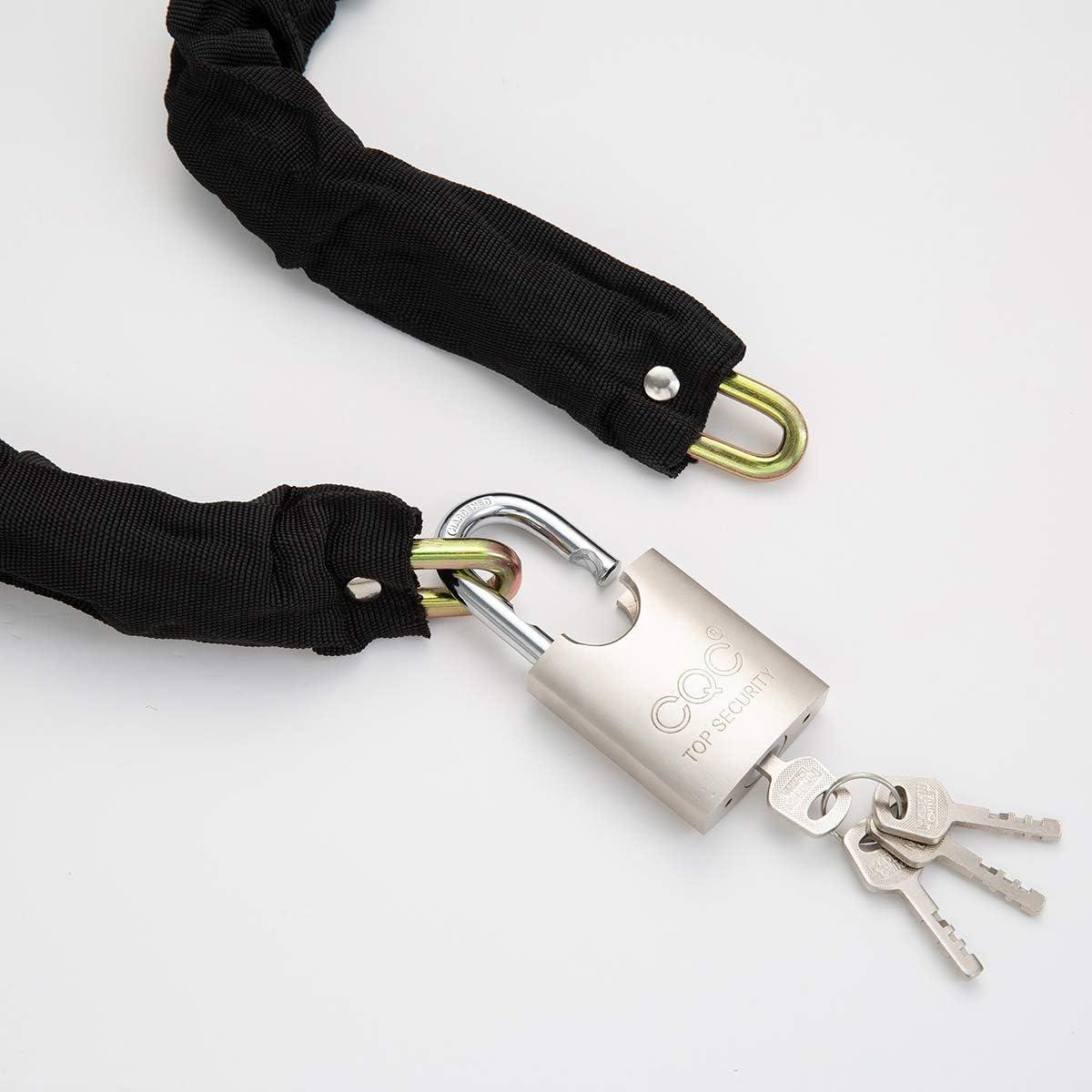 Heavy Duty Motorbike Cycle Chain Lock PadLock for Motorcycle Bike Bicycle Door Gate Fence