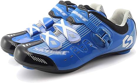 AEMUT Zapatillas de Ciclismo Hombre Zapatillas de Bicicleta ...