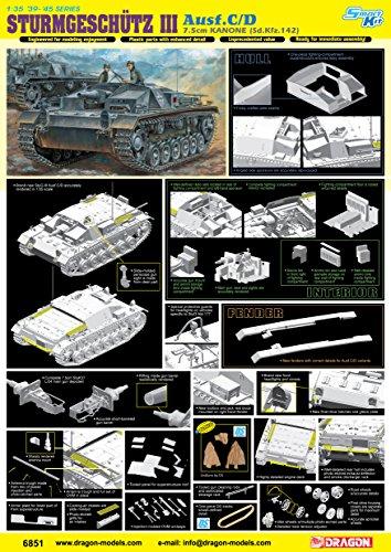 Dragon Models STURMGESCHÜTZ 7.5cm KANONE AUSF.C/D Model Kit (1/35 Scale) ()