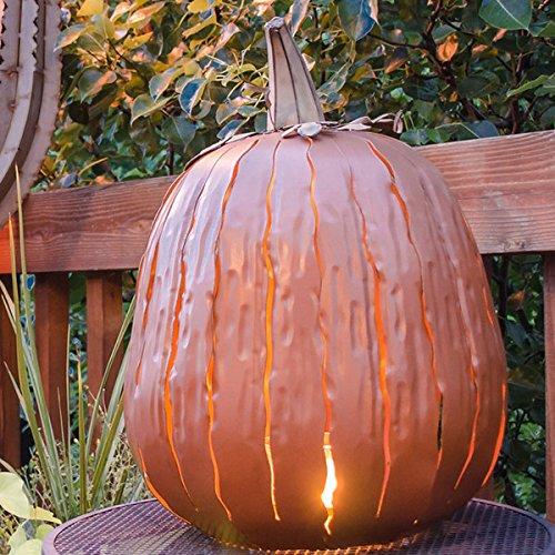 Rust Resistant Metal Tall Pumpkin Luminary