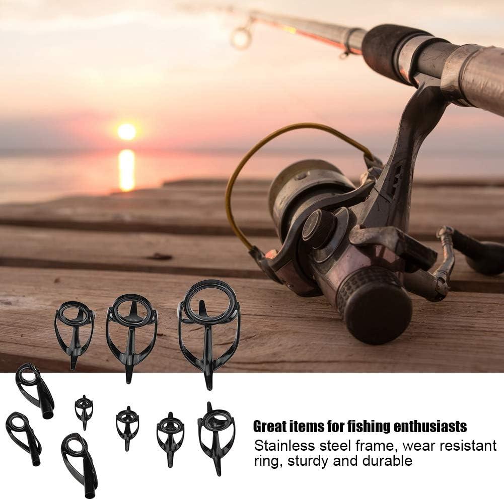 Furnoor Mixed Size Angeln Top Ringe Rod Pole Repair Kit Line Guides Augen Sets Durable Praktisch