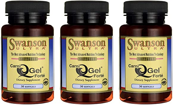 Amazon.com: Swanson Carni Q-Gel Forte 30 Sgels (3 unidades ...