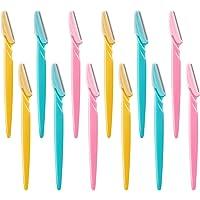 12 Piezas de Maquinillas de Afeitar Cejas Navajas