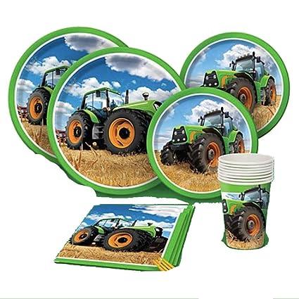 Amazon.com: Tractor Party Supplies – 65 piezas – servilletas ...