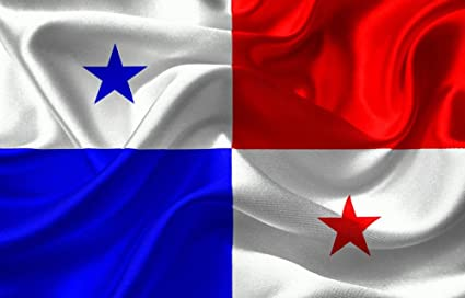 Quality Prints - Laminated 37x24 Vibrant Durable Photo Poster - Panama Flag Nation Country National Blue