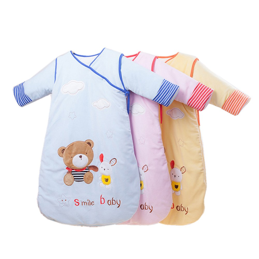 Baby Sleeping Bag Sleep Sack Bag Sleepingbag Sleepwear Long Sleeves Perfect Kids Gifts in Winter 0-12 Months 3 Pack by COFFLED