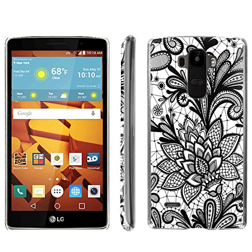 [ArmorXtreme] Phone Case for LG G Stylo LS770 / LG G4 Note Stylus / LG G Stylo H631 / MS631 [Clear] [Ultra Slim Cover Case] - [Black White Floral] -  ArmorXtreme for LG G Stylo H631