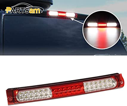 Third Brake Light LED 3rd Brake Light Rear Tail Cargo Lamp Smoke Lens Black Housing Replacement fit for 1997-2003 Ford F-150 2004 Ford F-150 Heritage 1998-1999 Ford F250 2002 Lincoln Blackwood