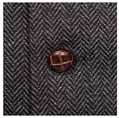 Gilet en laine mélangée à chevrons - Gris - Homme