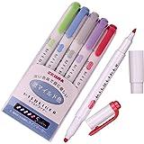 Zebra Mildliner Soft Color Double-Sided Highlighter Pens Deep, Warm & Cool (Blue Pack)