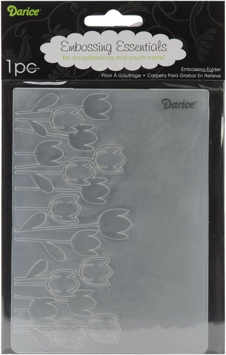 Transparent Plastique Darice 1217-63 Embossing Folder-Classeur de Gaufrage-Mod/èle Damas-12,7 x 17,8 cm 12,7 x 17,8 x 0,3 cm
