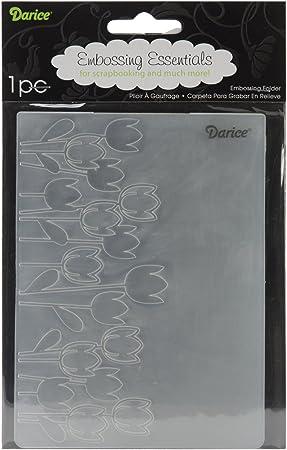 1ct Darice 1218-10 Embossing Folder 4.5 x 5.75 Buttons Black