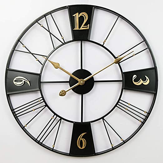BOPP Reloj de pared para exteriores, resistente a la intemperie, 60 cm, para jardín, de hierro exterior, para jardín, digital, estilo europeo retro industrial, apto para restaurantes y bares, B: Amazon.es: Jardín