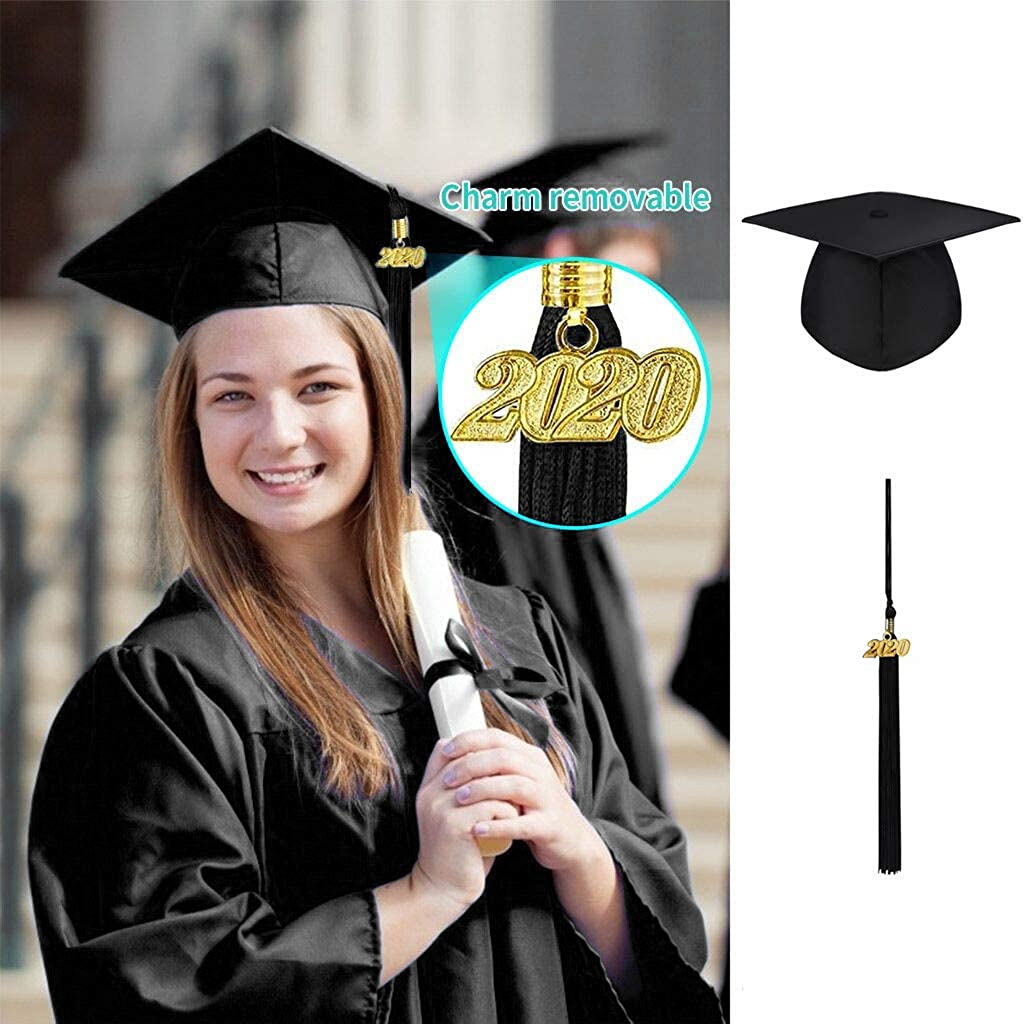 Retro University Mortar Board Graduation Cap Adjustable Hat Costumes Accessories