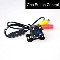 CoCar Universell Kamera 4 LED-Licht Nachtsicht Rückfahrkamera Frontkamera Seitenkamera Multifunktionales One Button Control Switch Vorne/Hintern/Seiten PAL/NTSC Distanzlinien ON/OFF Einparkhilfe 12V Auto PKW