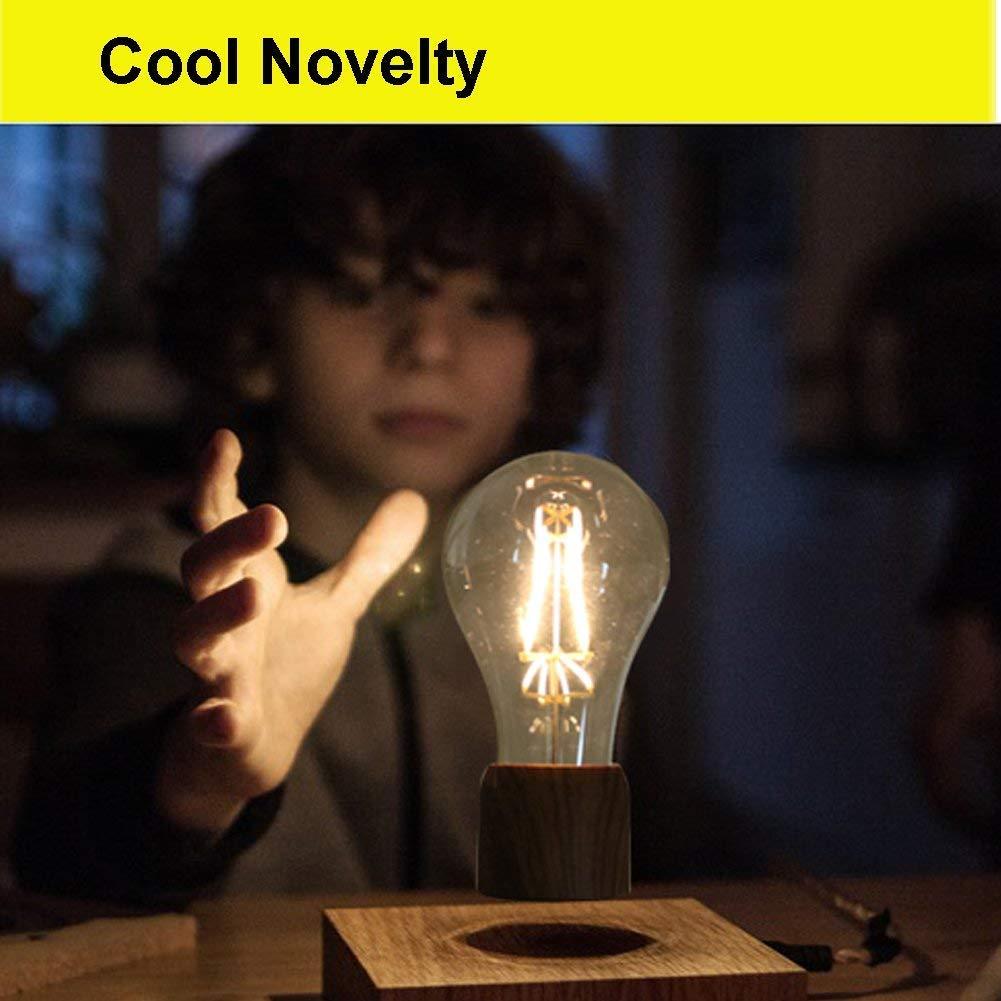VGAzer Magnetic Levitating Floating Wireless LED Light Bulb Desk Lamp for Unique Gifts, Room Decor, Night Light, Home Office Decor Desk Tech Toys