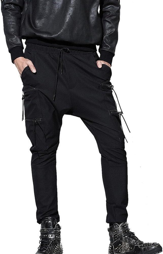 Panegy Nuevo Negro Harem Pantalones Largos Harén Harem Pantalón ...