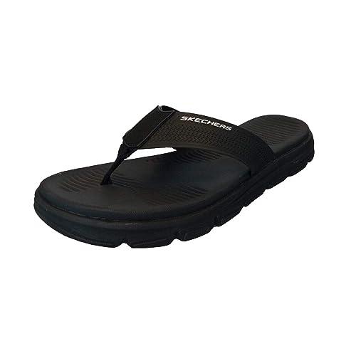 13b3500d1 Skechers Men s Wind Swell Butterlake Black Slippers (51741-BBK) (9 ...