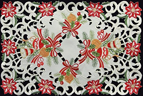 2-pcs-11x17-placemat-holiday-christmas-poinsettia-bell-ornament