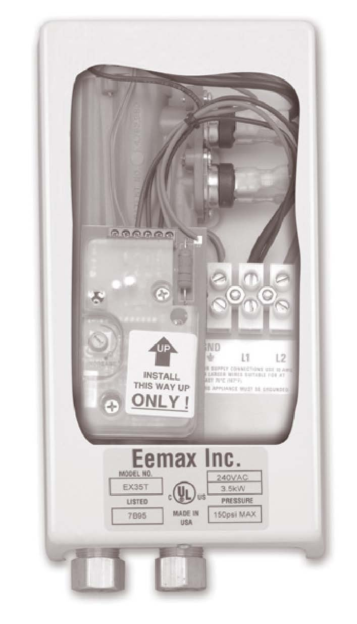 Eemax EX65T S 6.5KW 240V Therm S Electric Tankless Water Heater StandardPlumbing Kohler