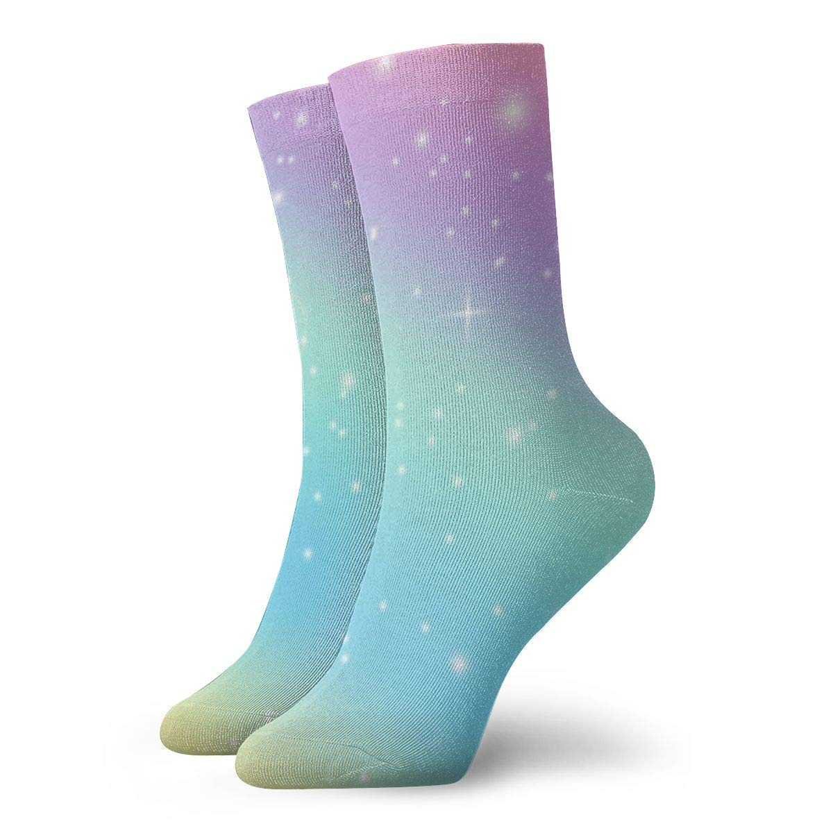 Rainbow Pastel Unisex Funny Casual Crew Socks Athletic Socks For Boys Girls Kids Teenagers