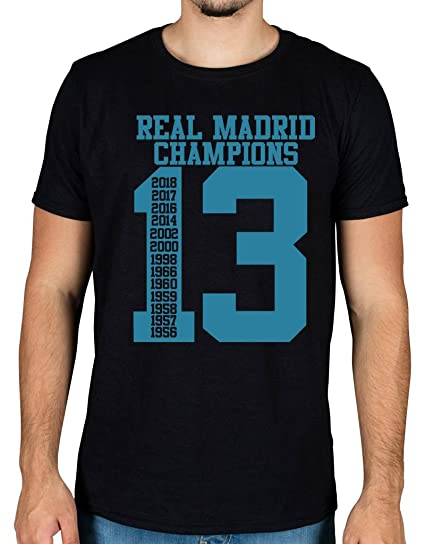 Ulterior Clothing Real Madrid 13 Champions League Cups Graphic T-Shirt: Amazon.es: Ropa y accesorios