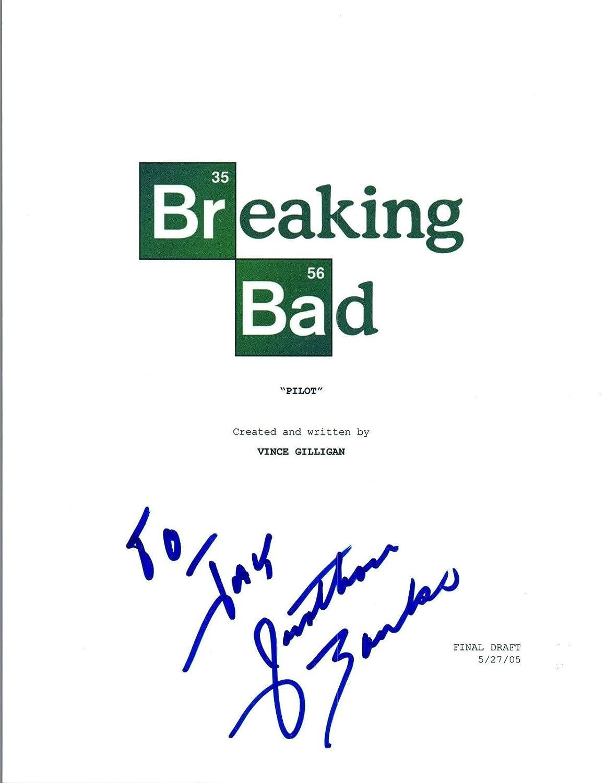 Jonathan Banks Signed Autographed BREAKING BAD Pilot Episode Script COA VD Unbranded