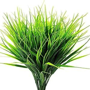 Artificial Fake Flowers 4 Bundles Outdoor UV Resistant Greenery Shrubs Plants Indoor Outside Hanging Planter Home Garden Decor 17