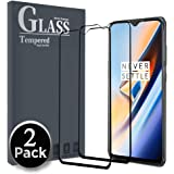 Ferilinso for [2 Pack] OnePlus 6T/ OPPO F9 Screen Protector, [Full Coverage] [Full Adhesive Glue] Case Friendly Bubble Free Tempered Glass Protection Film with Lifetime Replacement Warranty (Black)