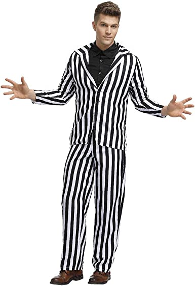 Disfraz De Halloween Adulto Horror Stripe Traje De Fantasma para ...