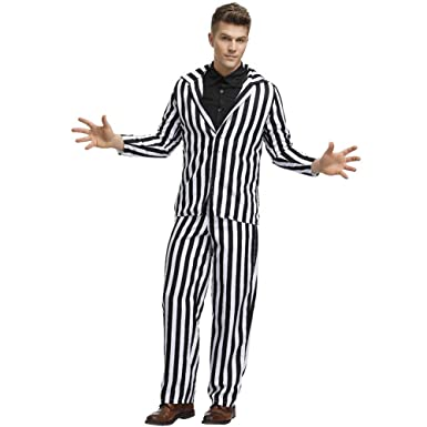 Disfraz De Halloween Adulto Horror Stripe Traje De Fantasma ...