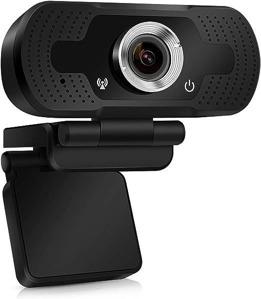TMEZON Webcam 1080P, cámara Web USB, cámara de computadora HD para Skype, FaceTime, Hangouts, PC/Mac/Laptop/MacBook/Tablet con micrófono Incorporado,Enfoque Automático y Reducción de Ruido: Amazon.es: Electrónica