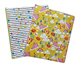 Colorful Couture Vinyl 3 Ring 1'' Binder - 2 Pack (Rainbow/Dots) Girls