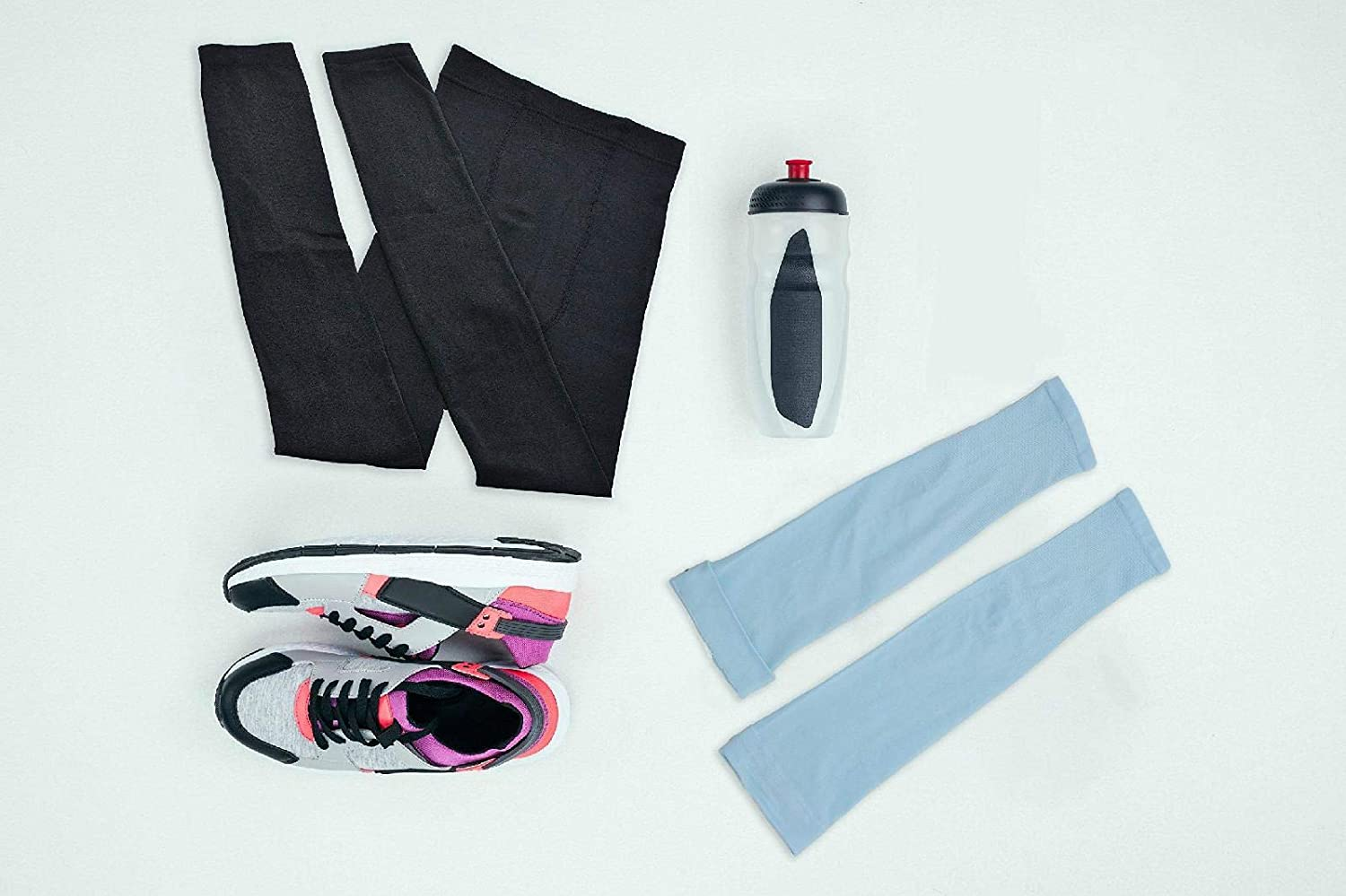 Huojingli UV Protection Cooling Arm Sleeves UPF 50 Compression Sun Sleeves for Men
