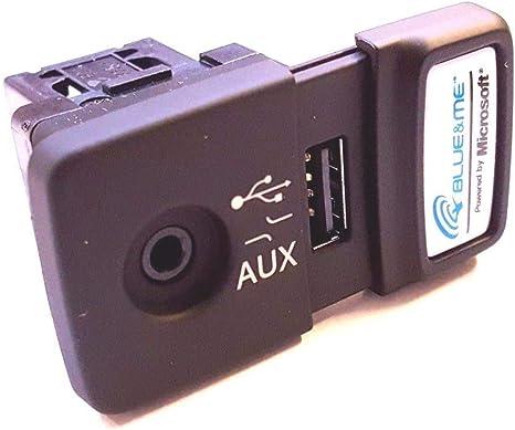 Aux Port per 500 Panda Punto Adattatore Jack Aux Blue and Me USB Media Player AUX Socket