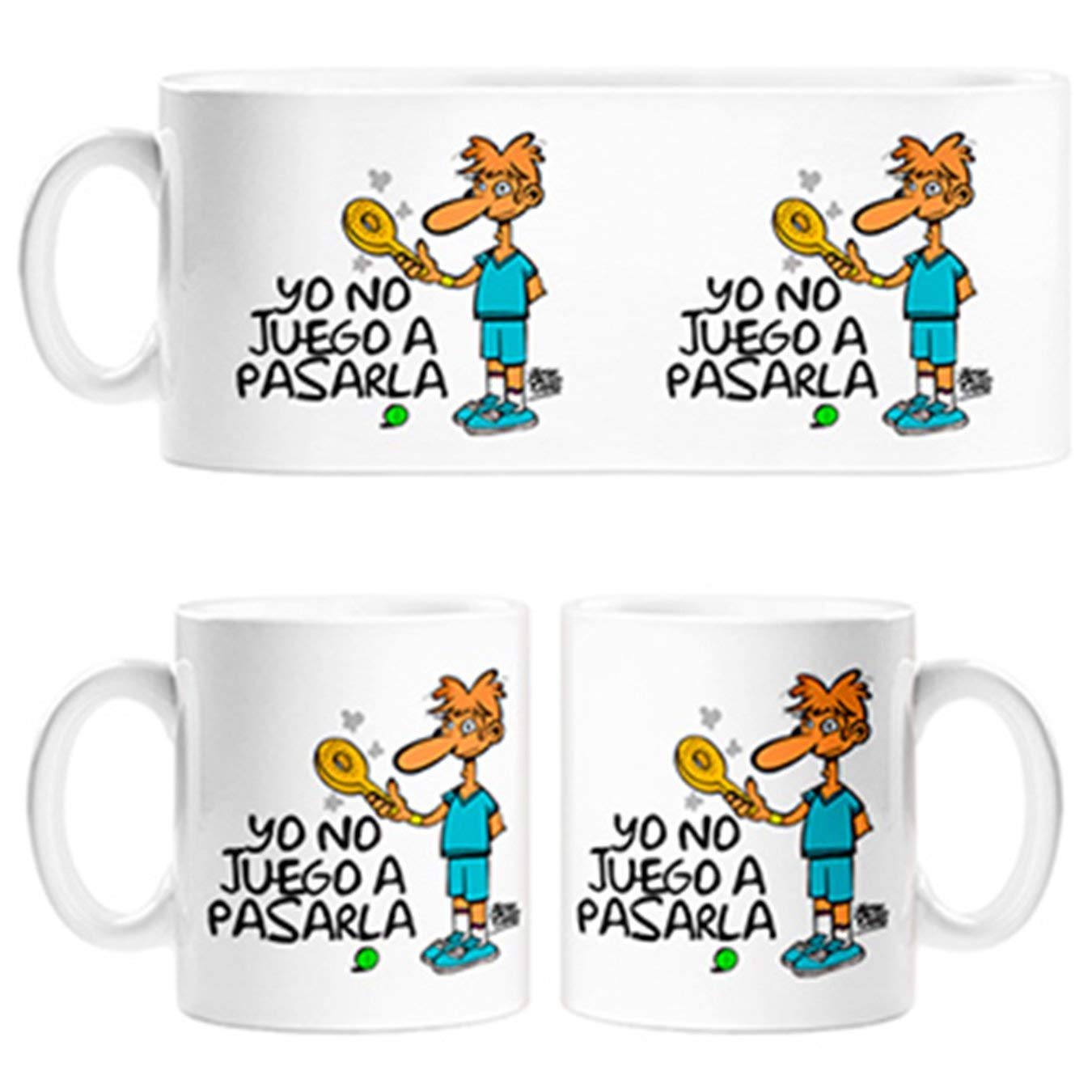 Diver Tazas Taza para jugones de Padel yo no Juego a pasarla ...