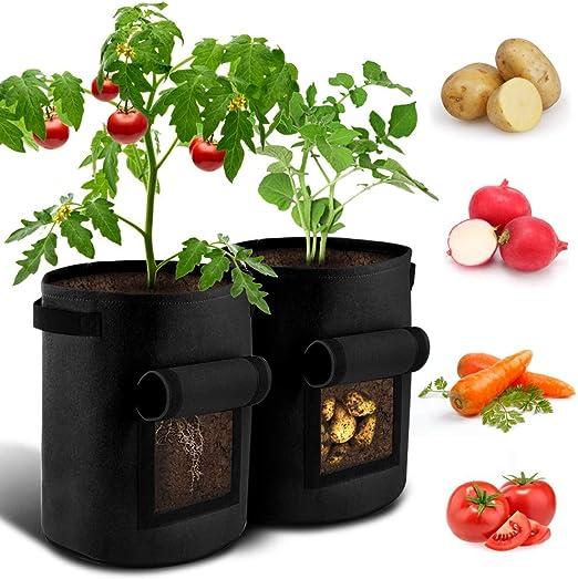 Durable Patata Plantador Bolsas Bolsa en Maceta, Macetas para ...