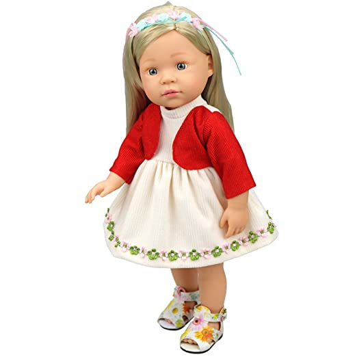 Amazon Com Hatoys Baby Care Diy Doll Clothes Dress For 16 Inch Doll