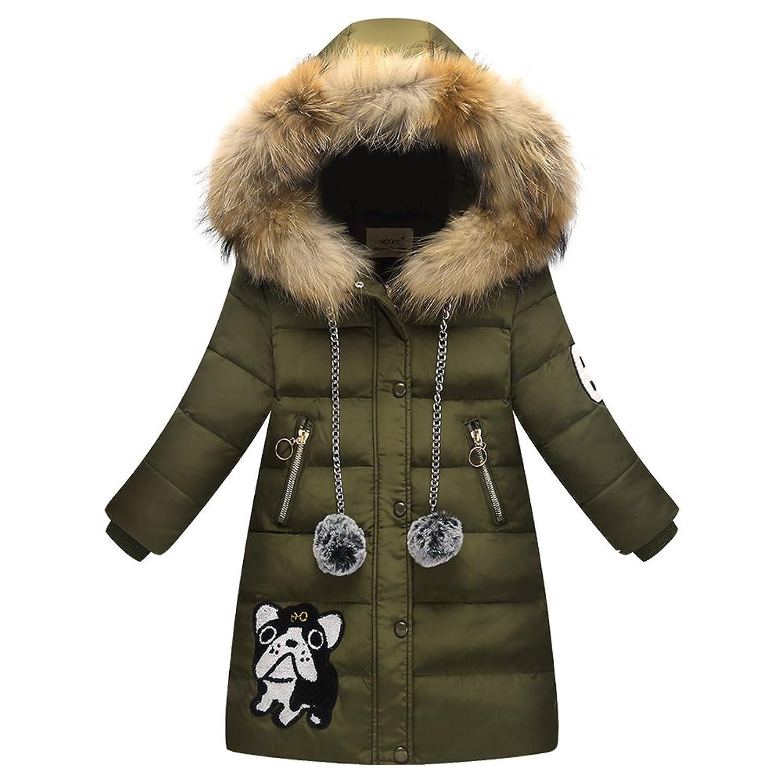 magasin en ligne 16825 8b160 LSERVER Enfant Fille Doudoune Mi longue Manteau à Capuche ...