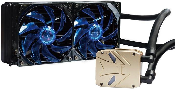 Refrigeracion Liquida CPU Refrigerador con Doble Metálico Ventiladores de 120mm PWM de Refrigeración 18dB Super Silent Fan para Intel / AMD (F6): Amazon.es: Electrónica