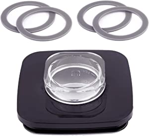 Timsec Replacement Blender Square Jar Lid 4903 and 4Packs Blender Gaskets Sealing O-Rings, 4