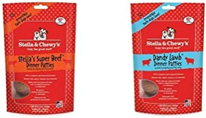 Stella & Chewy'S Freeze-Dried Raw Dinner Patties Dog Food Variety Pack Of 2 (Beef And Lamb), 5.5 Oz. Each