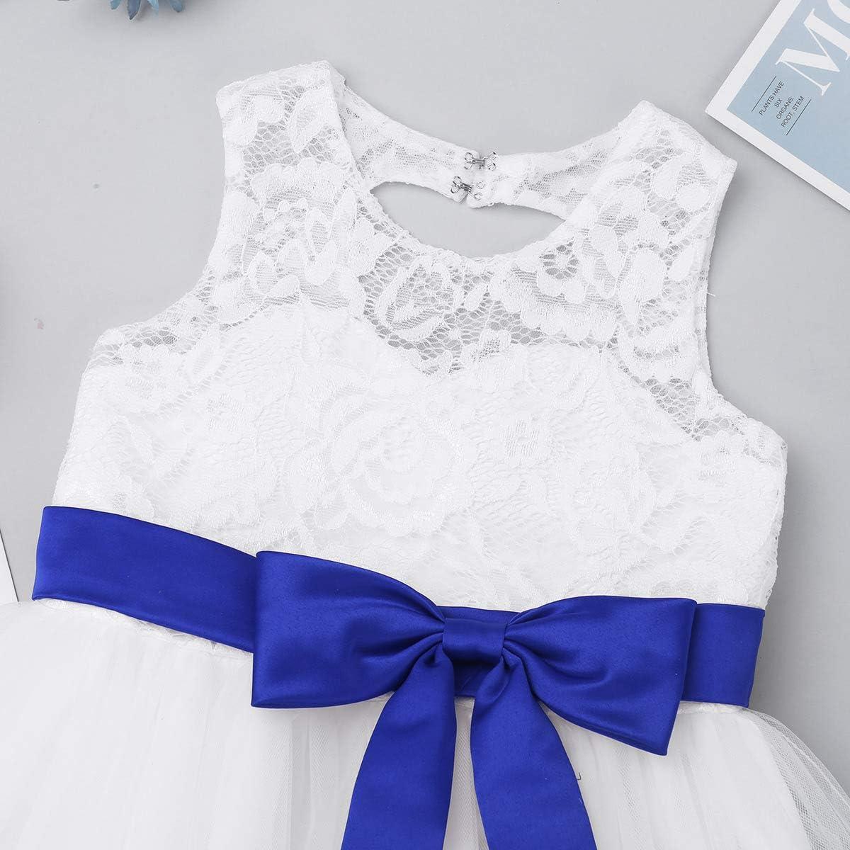 iiniim Baby M/ädchen Kleid Prinzessin Kleid Hochzeit Blumenm/ädchenkleid Taufkleid Festlich Tutu Kleid Geburtstag Partykleid Babybekleidung Gr.62-92