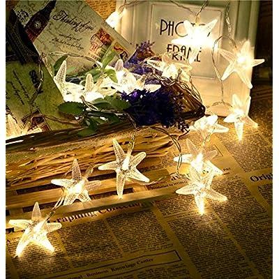 étoile de mer LED 3metres Guirlande lumineuse pour intérieur/extérieur Décoration de fête de mariage de vacances de Noël