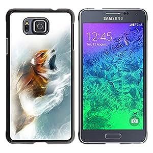 Planetar® ( Fox Roar ) Samsung GALAXY ALPHA G850 Fundas Cover Cubre Hard Case Cover