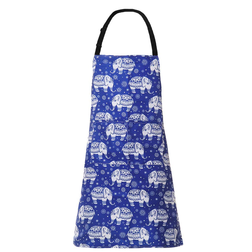 MissOwl Adjustable Bib Apron with Pockets Kitchen Apron for Men Women Cooking Baking Cat