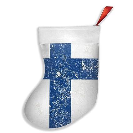 Finland Christmas Decorations.Amazon Com Vicrunning Flag Of Finland Christmas Stocking