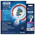 Oral-B Pro 5000 Electric Toothbrush Bundle with Cross Action Replacement Brush Head